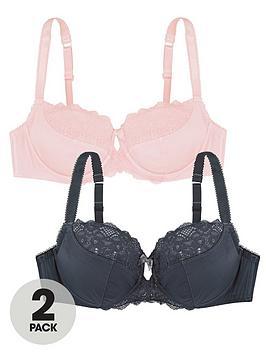 Dorina Dorina Exclusive Celine 2 Pack Non Padded Bra - Grey/Pink Picture