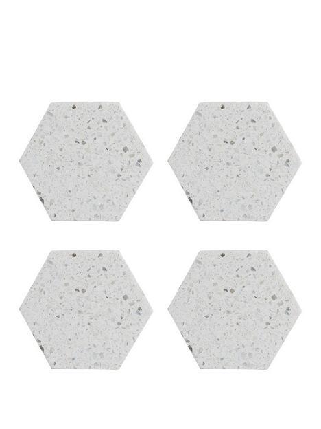 typhoon-elements-terrazzo-hexagonal-coasters-ndash-set-of-4