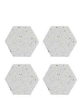 Typhoon Typhoon Elements Terrazzo Hexagonal Coasters &Ndash; Set Of 4 Picture