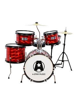 Rocket   5 Piece Junior Drum Kit - Red