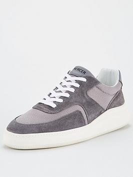 Mercer Mercer Lowtop 4.0 Suede Trainers - Grey Picture
