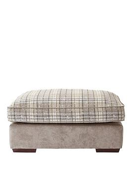 Very Campbell Fabric Check Footstool Picture