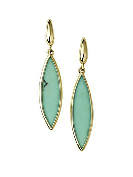 Emily & Ophelia Emily & Ophelia Emily & Ophelia 9Ct Gold Turquoise Drop  ... Picture