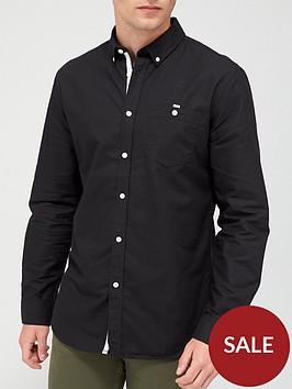 very-man-long-sleeved-oxford-shirt-black