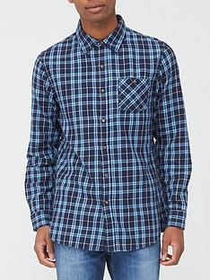 very-man-long-sleeve-flannel-shirt-bluenavynbsp