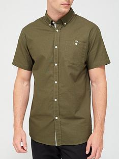 very-man-short-sleeved-oxford-shirt-light-khaki