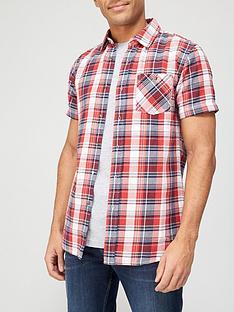 very-man-short-sleeve-flannel-shirt-redblue