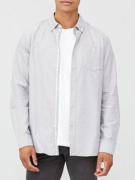 very-man-long-sleeved-oxford-shirt-grey