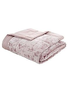 catherine-lansfield-crushed-velvet-bedspread-throw-pink