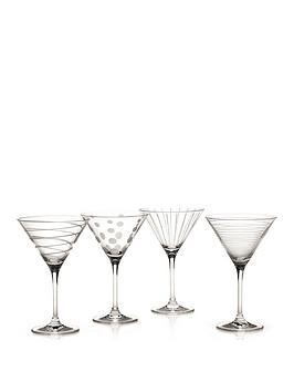 Very  Cheers Martini Glasses &Ndash; Set Of 4
