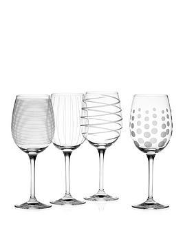 Very  Cheers White Wine Glasses &Ndash; Set Of 4