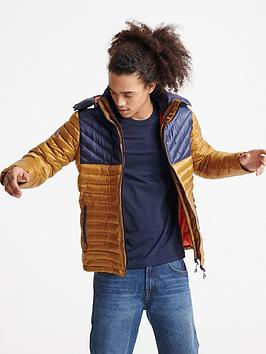 Superdry Superdry Colour Block Fuji Jacket - Brown Picture
