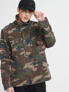 Superdry Superdry Patched Field Jacket - Camo Picture