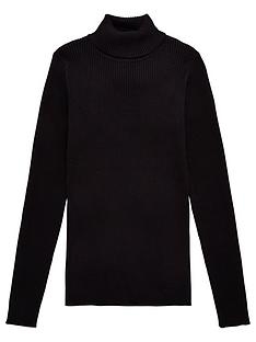v-by-very-girls-rib-roll-neck-jumper-black