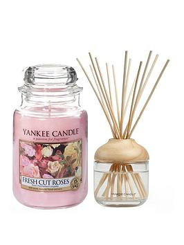 yankee-candle-fresh-cut-roses-large-jar-candle-and-reed-diffuser-bundle