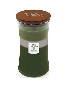 WoodWick Woodwick Large Hourglass Trilogy Candle &Ndash; Mountain Trail Picture