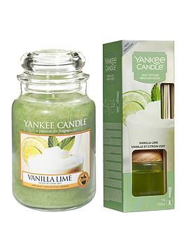 Yankee Candle Yankee Candle Vanilla Lime Large Jar Candle And Reed  ... Picture