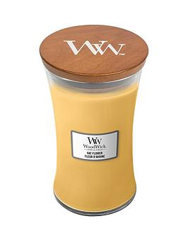 WoodWick Woodwick Large Hourglass Candle &Ndash; Oat Flower Picture