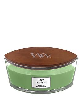 WoodWick Woodwick Ellipse Candle &Ndash; Hemp &Amp; Ivy Picture
