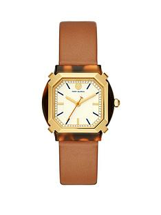 tory-burch-tory-burch-gold-and-tortoise-shell-tank-dial-blush-leather-strap-ladies-watch