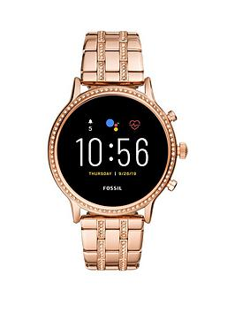 Fossil Fossil Full Display Dial Rose Gold Glitz Stainless Steel Bracelet Smart Watch