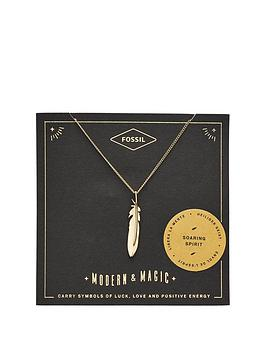 fossil-fossil-gold-tone-feather-pendant-necklace