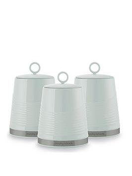 Morphy Richards Morphy Richards Dune Set Of 3 Canisters &Ndash; Sage Green Picture