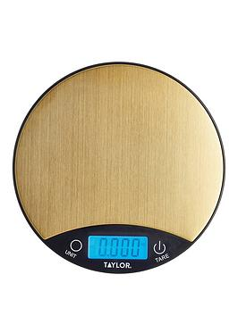 Very Pro Brass Finish Digital Dual Kitchen Scale Picture