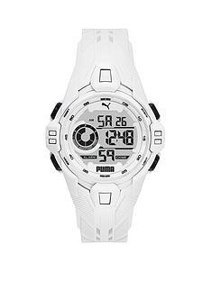 puma-puma-white-digital-dial-white-pu-strap-watch