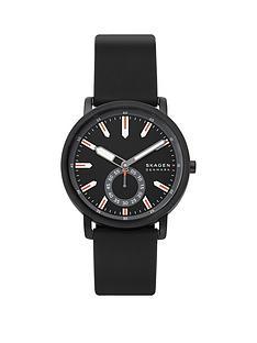 skagen-skagen-black-and-red-detail-dial-black-silicone-strap-mens-watch