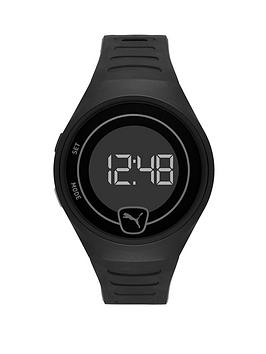 Puma Puma Puma Black Digital Dial Black Pu Strap Watch Picture