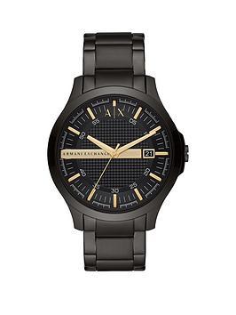 armani-exchange-armani-exchange-hampton-black-stainless-steel-black-sunray-dial-watch