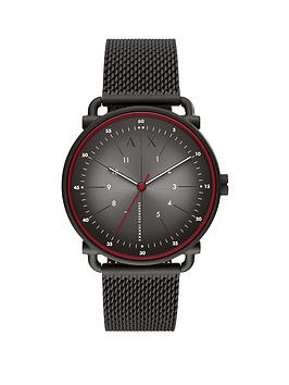 Armani Exchange Armani Exchange Armani Exchange Rocco Black Stainless  ... Picture
