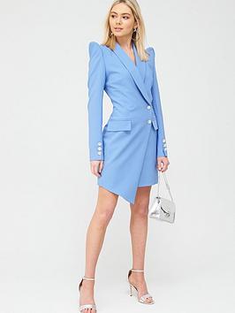 River Island River Island Asymmetric Blazer Dress - Blue Picture