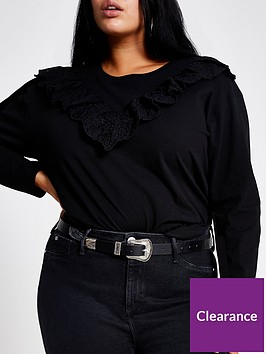 ri-plus-broderie-frill-long-sleeve-jersey-top-black