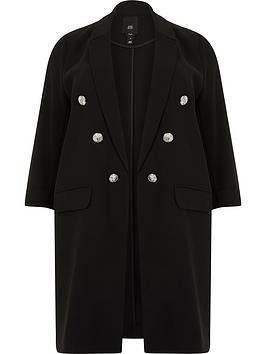 RI Plus Ri Plus Longline Blazer - Black Picture