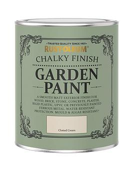 Rust-Oleum Rust-Oleum Garden Furniture Paint Clotted Cream 750Ml Picture