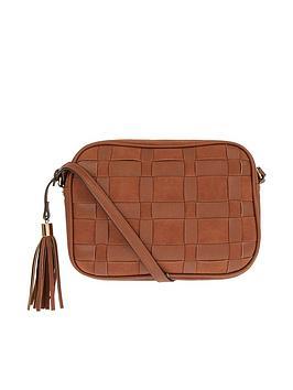 Accessorize Accessorize Large Weave Crossbody Bag - Tan Picture