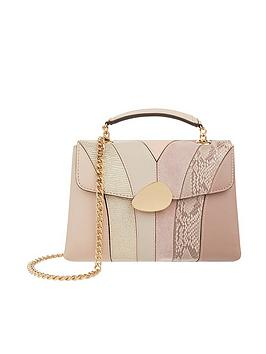 Accessorize   Buckle Saddle Bag - Nude