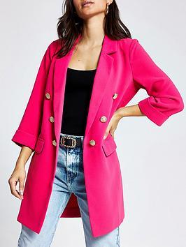 RI Petite Ri Petite Longline Blazer - Pink Picture