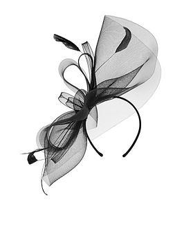Accessorize Accessorize Rhea Large Crin Fascinator - Black Picture
