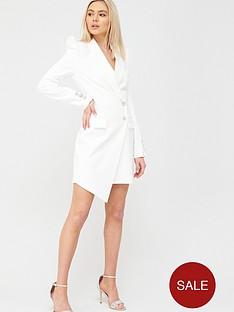 river-island-asymmetric-blazer-dress-white