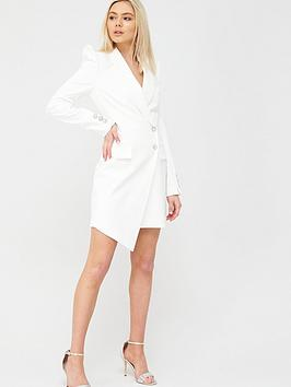 River Island River Island Asymmetric Blazer Dress - White Picture