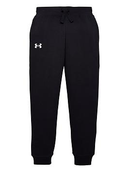 under-armour-childrensnbsprival-cotton-pants-black-white