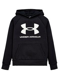 under-armour-childrensnbsprival-fleece-hoodie-blackwhite