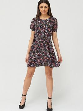 V by Very V By Very Balloon Sleeve Smock Dress - Floral Picture