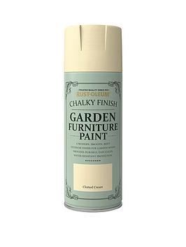 Rust-Oleum Rust-Oleum Garden Furniture Spray Clotted Cream 400Ml Picture