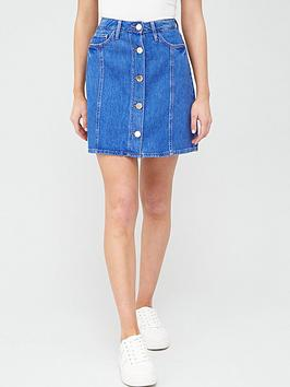 River Island River Island Denim Mini Skirt - Blue Picture