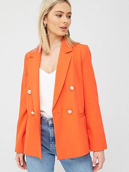 River Island River Island Double Breasted Blazer - Red Picture