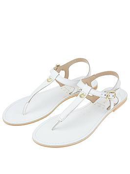 Accessorize   Charm Detail Sandals - White